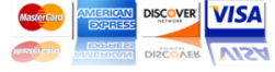 Mastercard - American Express - Discover - Visa Accepted in 92074